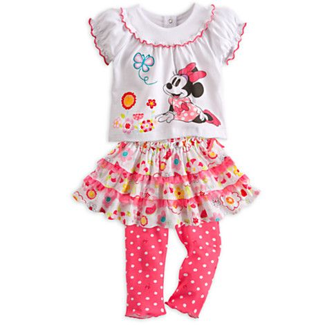 Minnie Mouse Top and Skirt with Leggings Set for Baby. Can't wait to put this on Brilea!