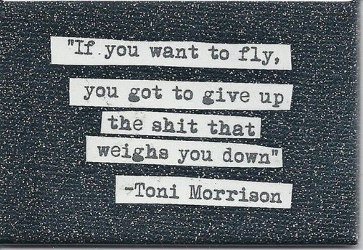 If you want to fly...