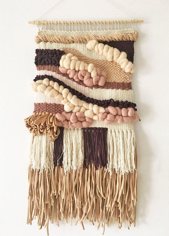 Hand woven tapestry wall hanging   Woven wall hanging   Woven ...