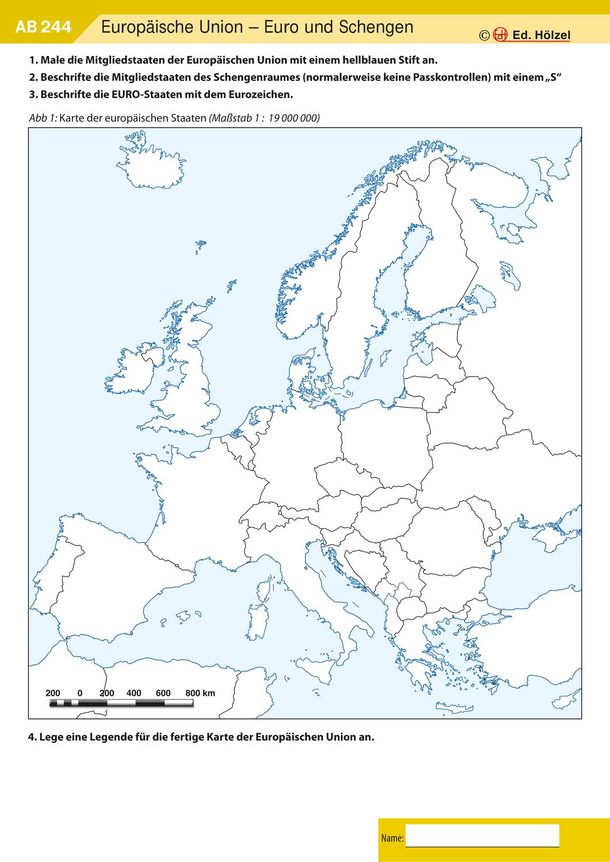 Arbeitsblätter Europäische Union   Geographie unterrichten ...