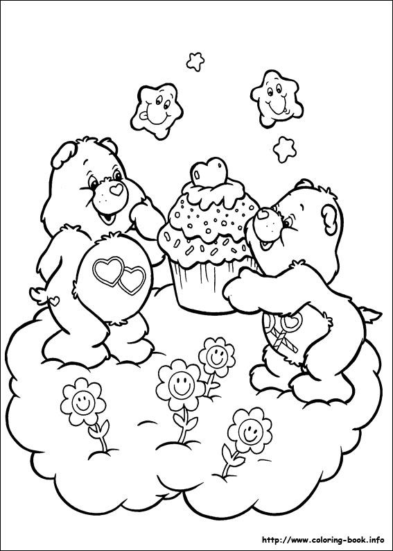The Care Bears Coloring Picture Bear Coloring Pages Coloring Books Teddy Bear Coloring Pages