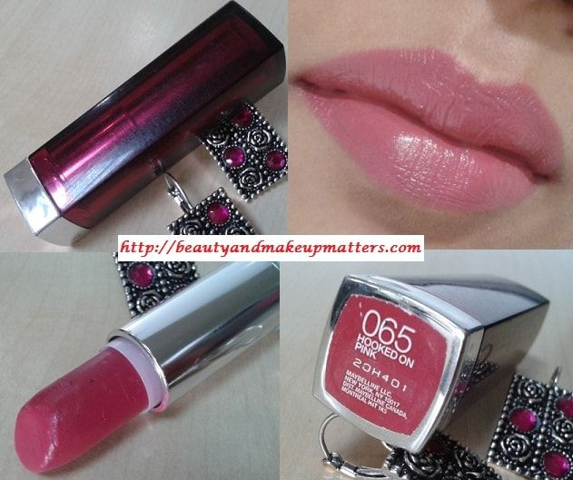 Fashion Beauty And Lifestyle Blogs: Maybelline Color Sensational Lipstick Hooked On Pink