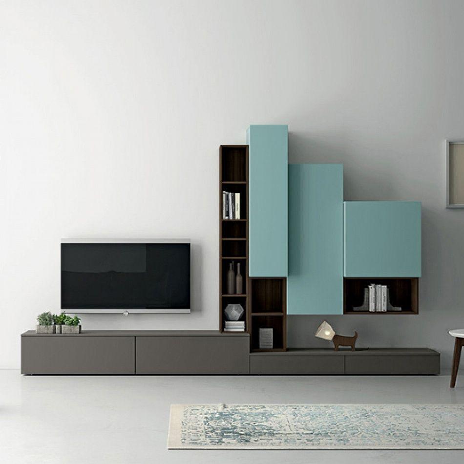 Contemporary Italian Design TV Unit Slim I By Dall'Agnese