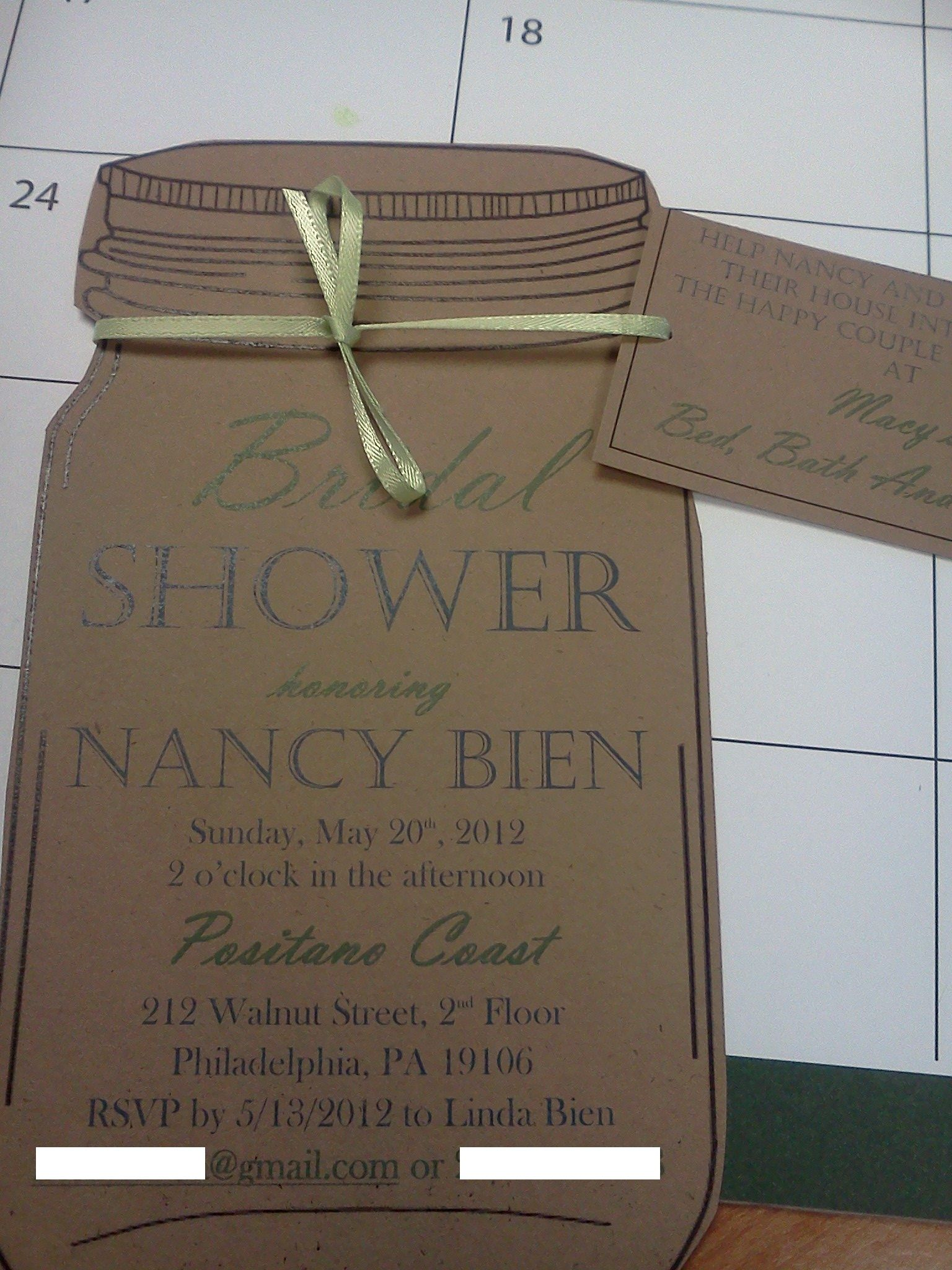 bridal shower invite =) you can tell i've been heavily