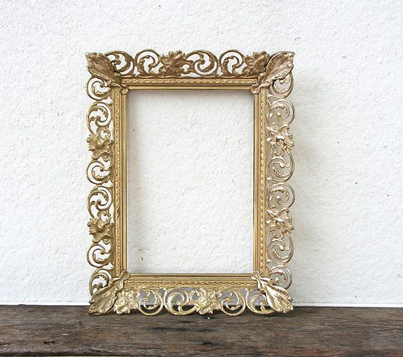 These are extremely beautiful vintage metal frames. You will receive ...