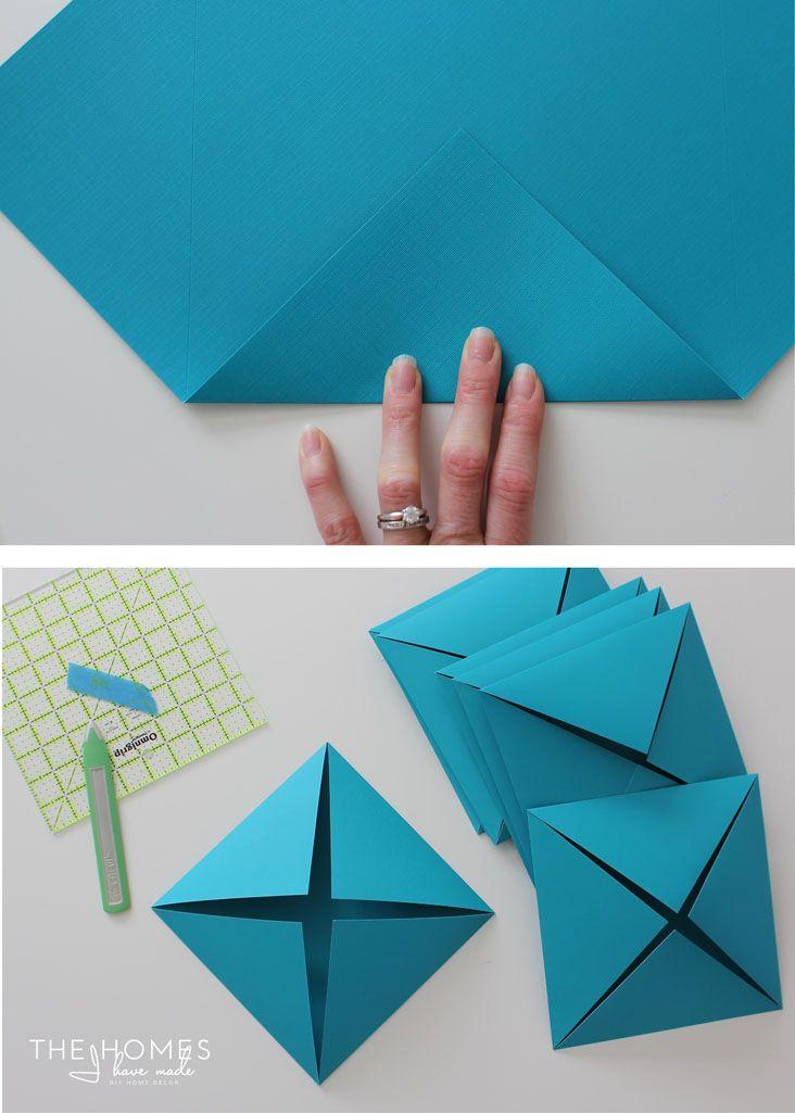 Diy Geometric Paper Wall Art Jam Blog Origami Wall Art Paper Wall Art Diy Paper Wall Decor