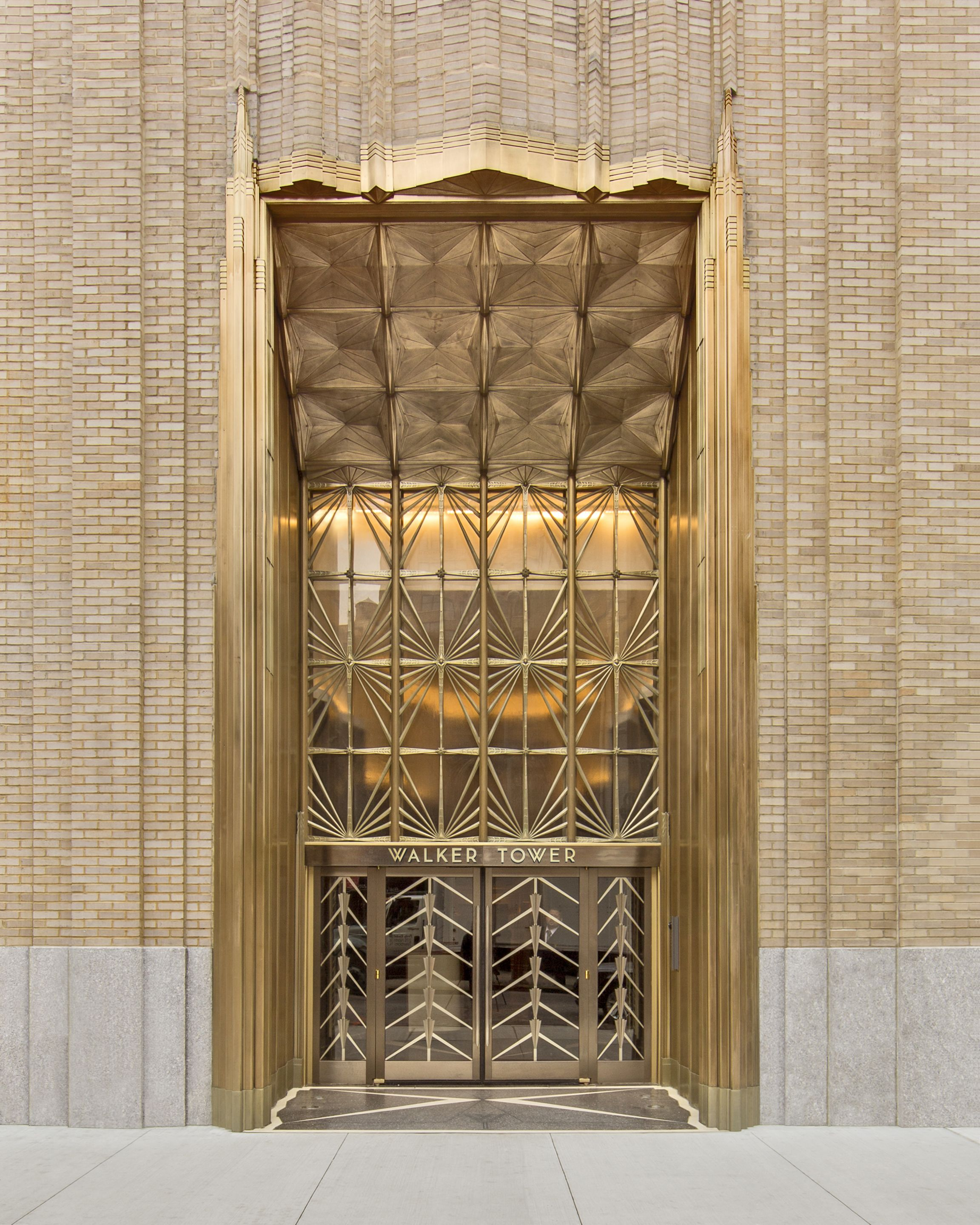 Deco New York But Art Deco New York City Entrance Walker Tower 212