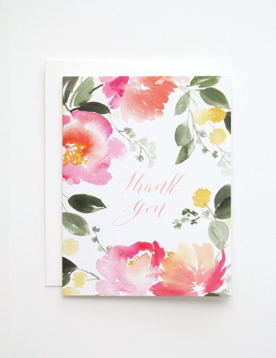 This Thank You Card Comes With A Blank Interior With A White