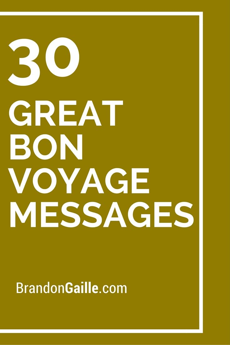 Funny bon voyage messages for friends