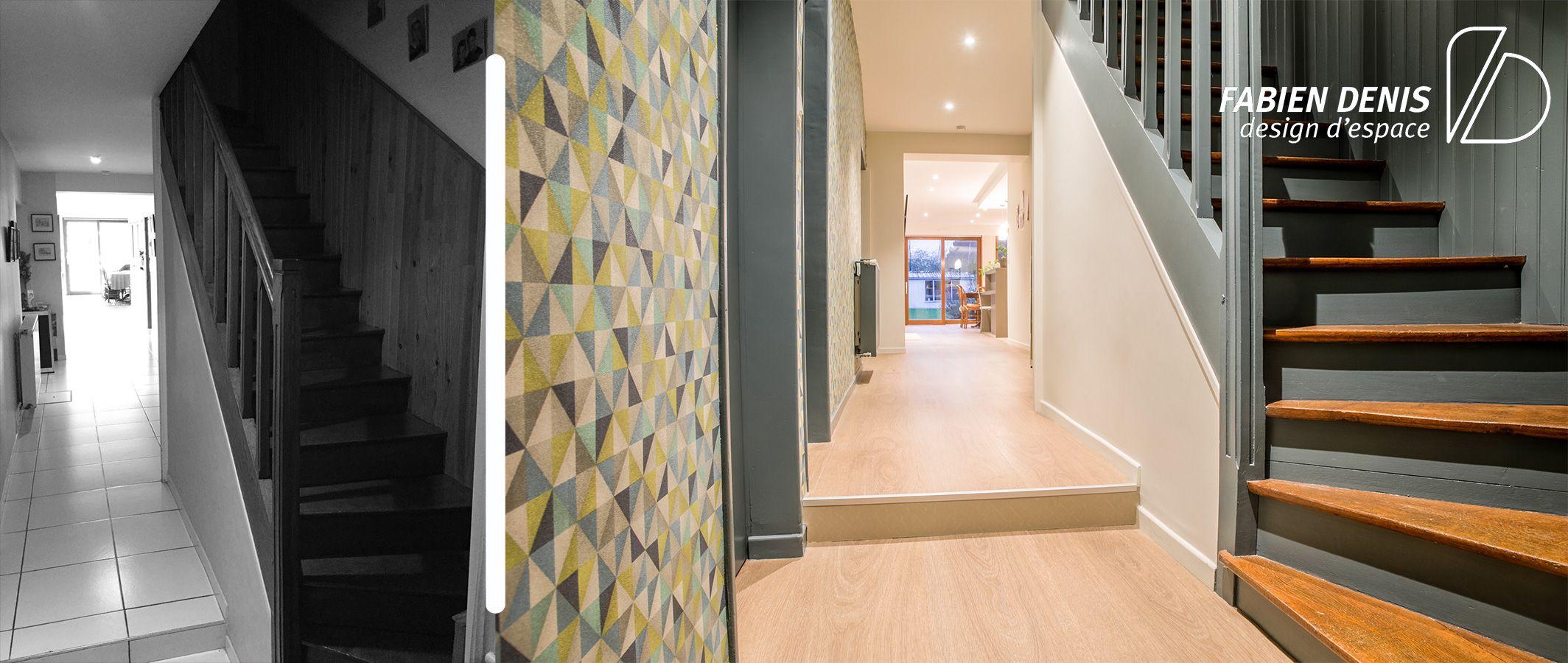 Peinture Sur Papier Peint Existant rénovation et design d'une maison   maison, escalier, design