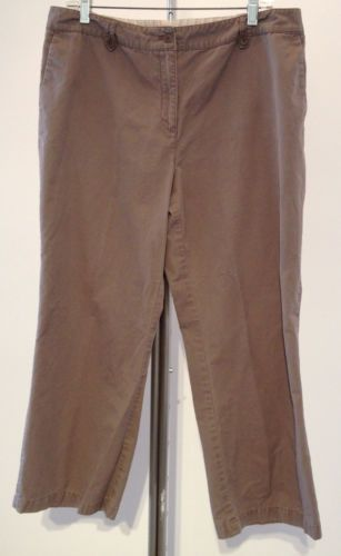 Sigrid Olsen Taupe Gray Cotton Petite Casual Pants 14P 35x29 - Recycled Couture #Fashion #Apparel #Shopping #eBay