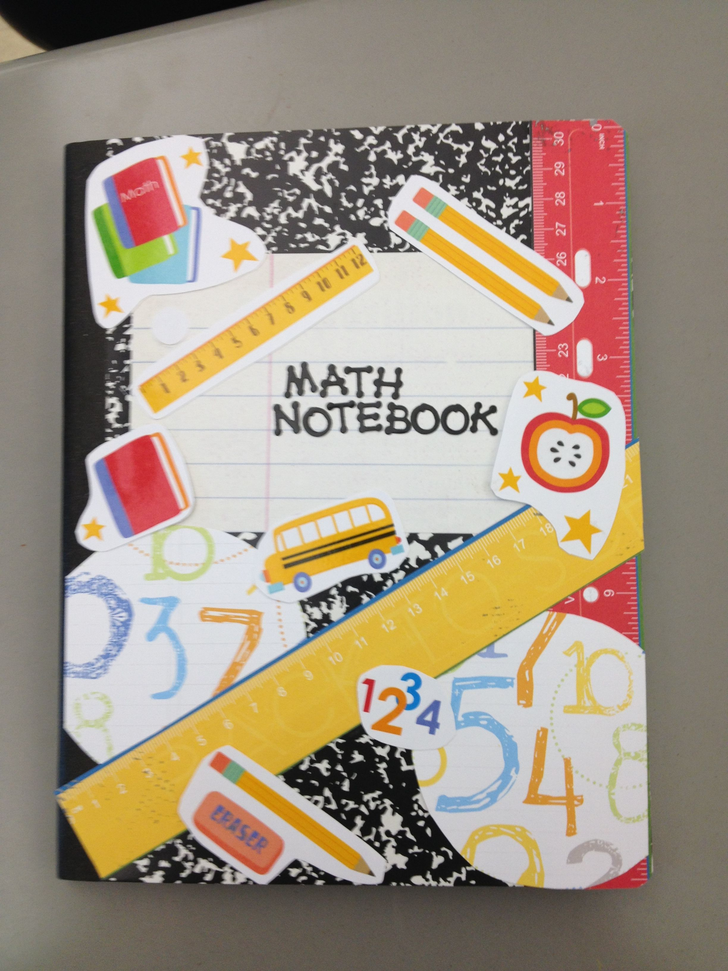 My math notebook cover - soo cute!! | Educational | Pinterest | Math ...