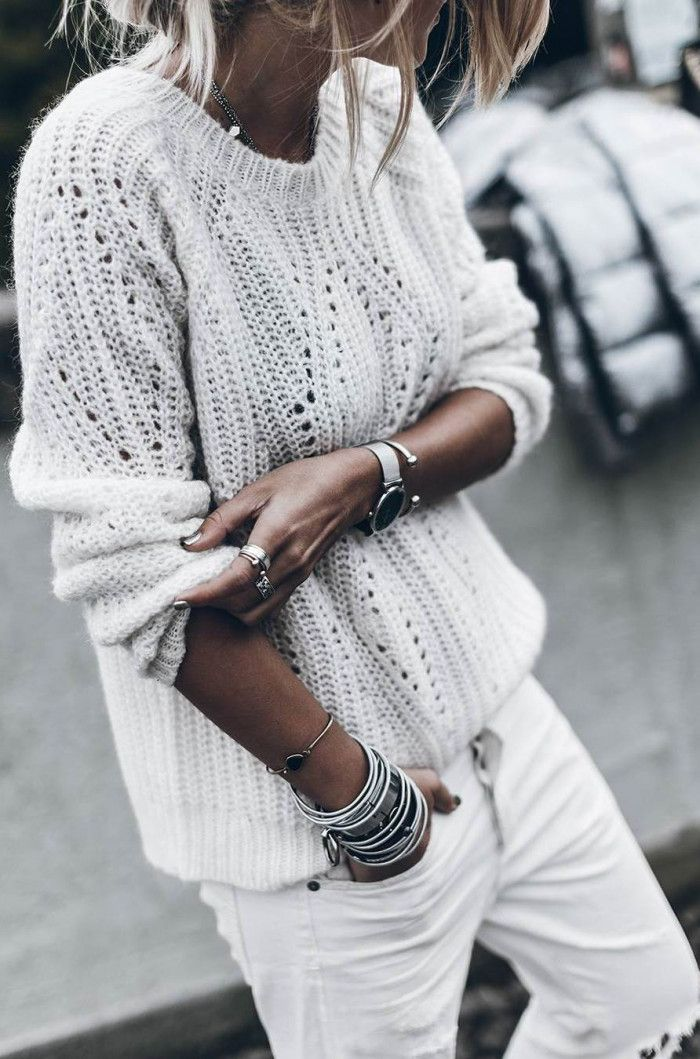 65ce5b348 30+ Awesome Outfit Ideas On How To Wear Sweaters | Blanc | Fashion ...