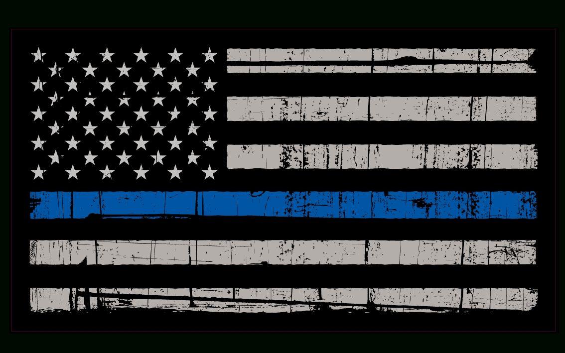 10 Best Thin Blue Line Flag Desktop Wallpaper FULL HD 1080p For PC