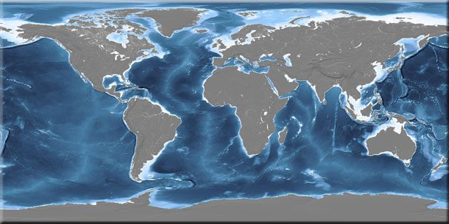 Earths oceans from space space pinterest texture mapping global earth texture map with bathymetry gumiabroncs Image collections