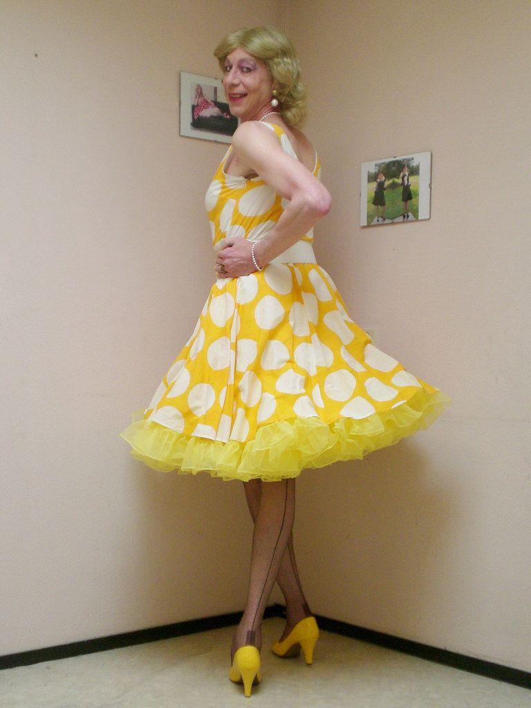 Cross dresser petticoat tranny transvestite