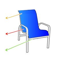 The fabric on our deck chairs is starting to rip but the frame is in good condition. I found these replacement sling for one piece patio sling chair ...  sc 1 st  Pinterest & The fabric on our deck chairs is starting to rip but the frame is ...