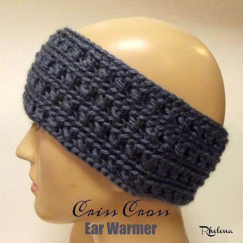 FREE crochet pattern for the Criss Cross Ear Warmer. This earwarmer ...