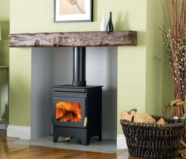 log burner hearth - Nice but wood floor?
