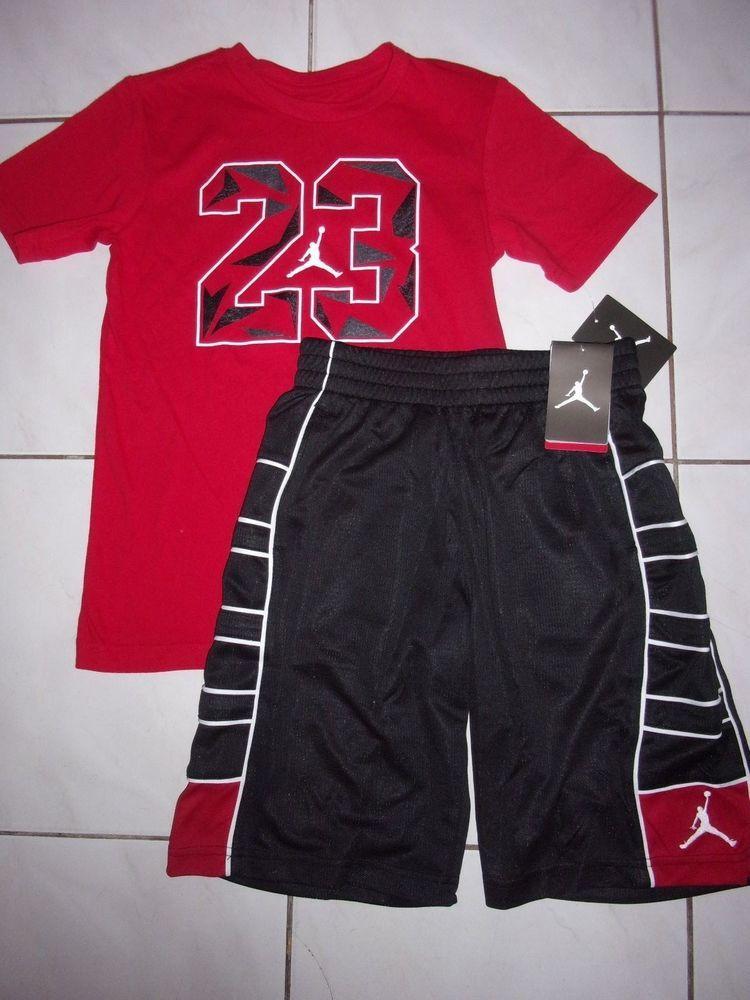 4462652b6f215d New NIKE Air Jordan SHORTS NIKE Air Jordan SHIRT Boy Size M (10-12 )  64   fashion  clothing  shoes  accessories  kidsclothingshoesaccs   boysclothingsizes4up ...