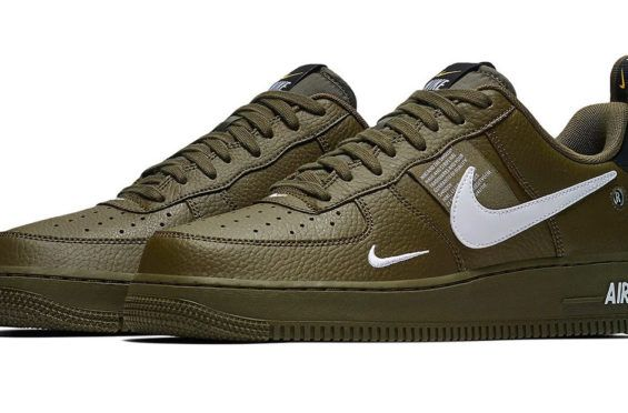 Release Date  Nike Air Force 1 07 LV8 Utility Olive Canvas  7baa86db5