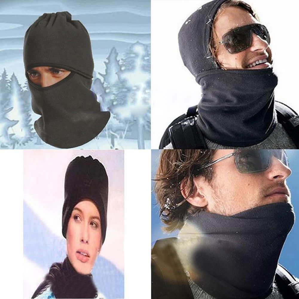 Unisex Thermal Fleece Balaclava Neck Winter Ski Full Face Mask Cover Cap For Outdoor Sport CS Windproof Hat