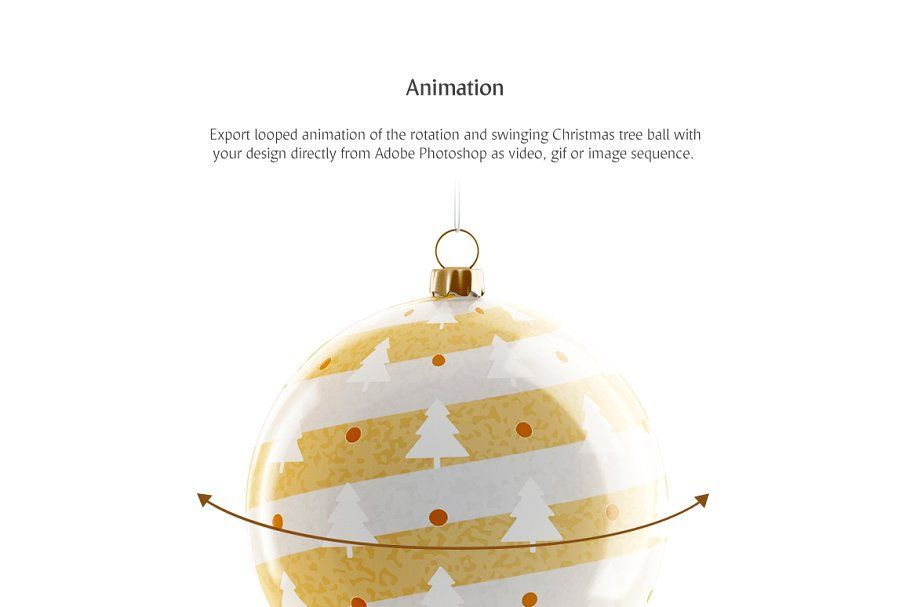 Christmas Tree Ball Animated Mockup In 2020 Animation Types Christmas Balls Christmas Tree