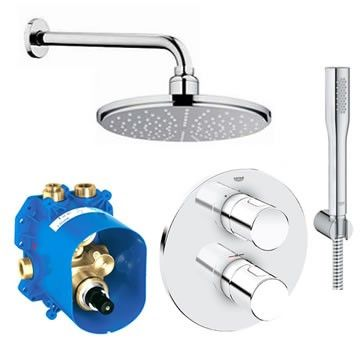 Grohe Grohtherm 3000 Cosmo Rainshower Pack Shower Shower Valve