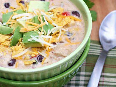 Lighter Tasty Tortilla Soup In A Crockpot
