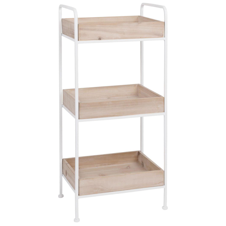 Small Storage Unit White Metal And Fir Smallstorage