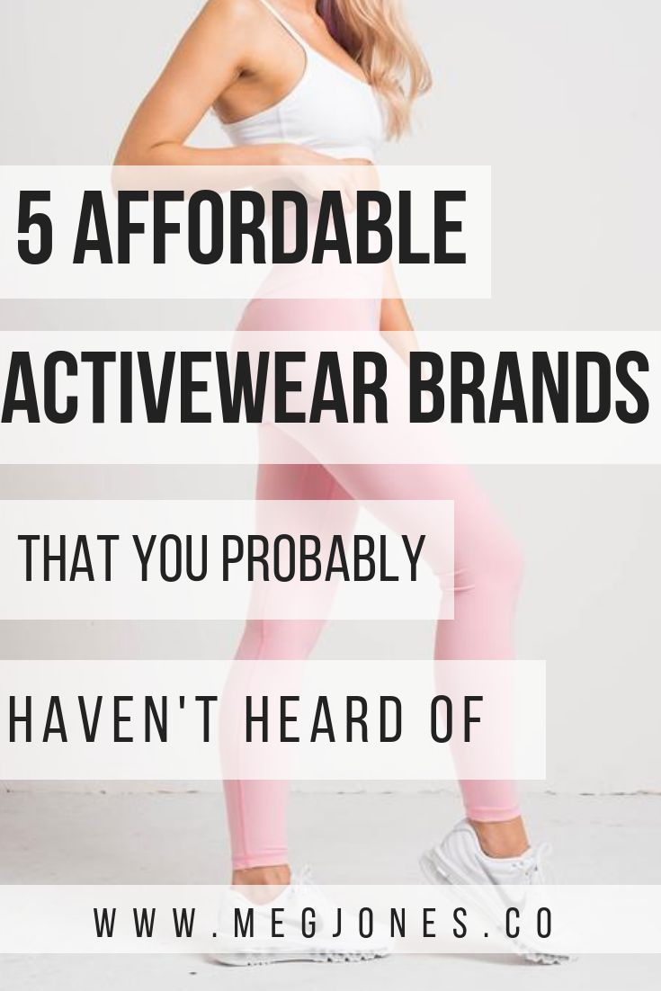 Affordable activewear brands   Products We Love   Affordable