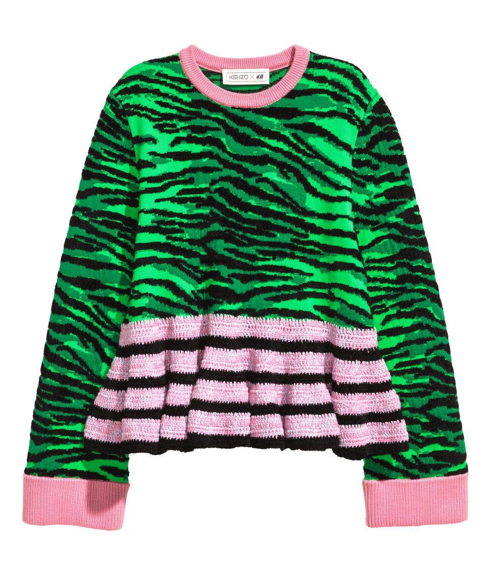 61d8cda8b0 Wool-blend Sweater | Green/pink | Ladies | H&M US | In my closet ...