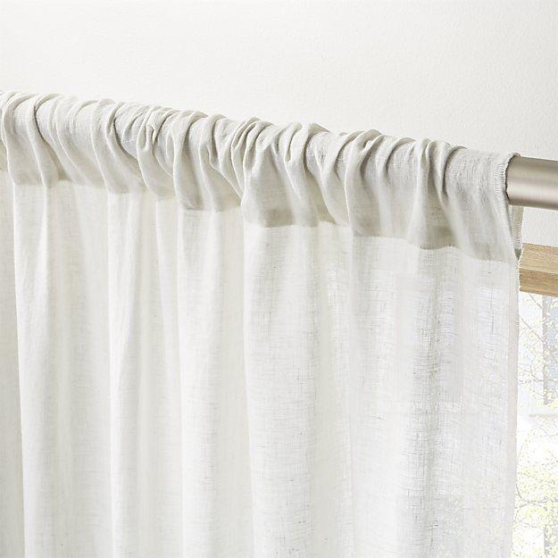 Silver Grey Linen Curtain Panel 48 X108 Reviews Linen Curtain Panels Linen Curtains Grey Linen Curtains