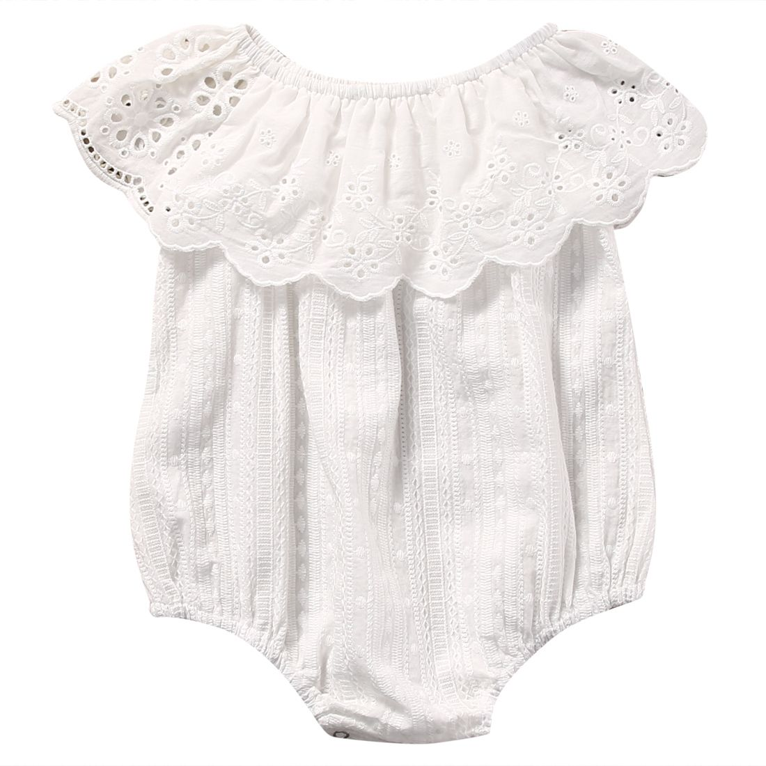 98bcc14a6f9 Babies clothes ·    Click to Buy    Newborn Toddler Baby Girl White Cotton Sleeveless  Romper Jumpsuit.