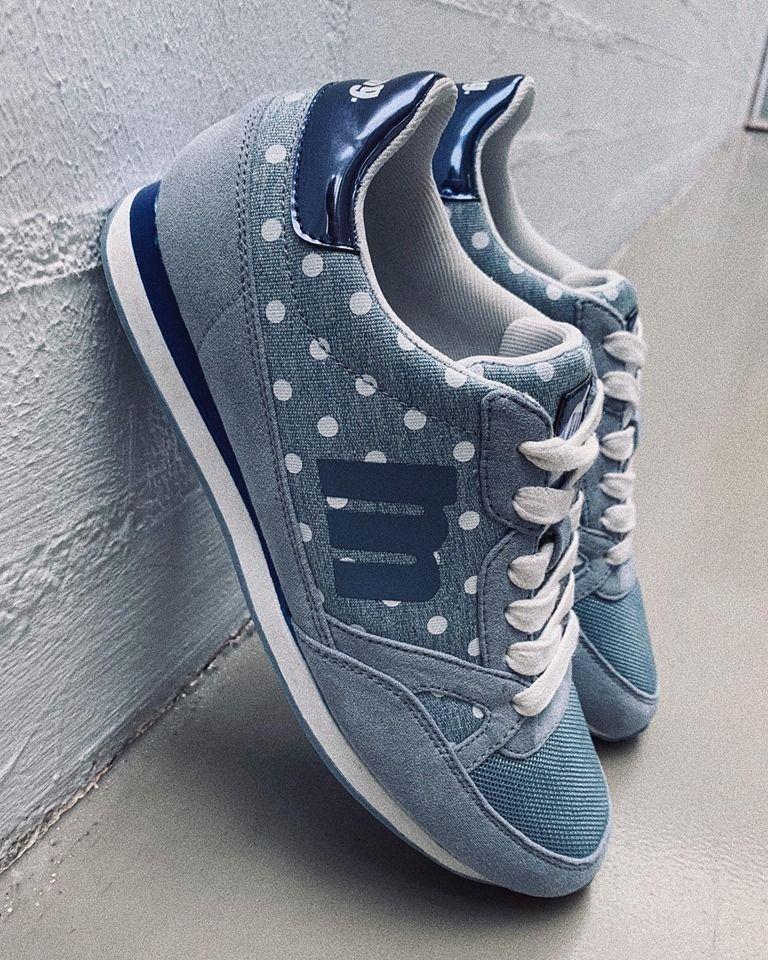 9d549e0ebbd Zapatos de deporte para mujer en color jean. Características:con cordones,  altura de