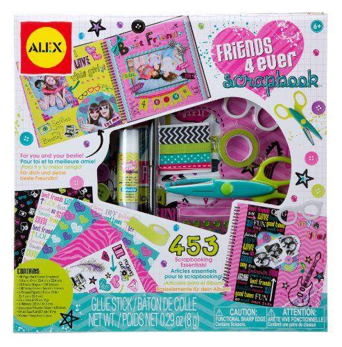 Alex Toys Craft Friends 4 Ever Scrapbook Kit With 48 Page Hardcover Book Book Crafts Scrapbook Crafts Alex Toys