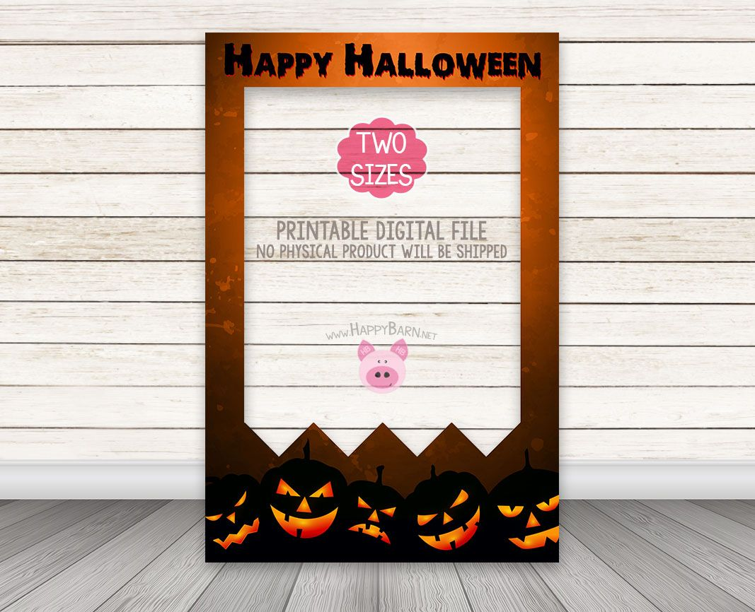 INSTANT DOWNLOAD PRINTABLE Halloween Photo Booth Frame