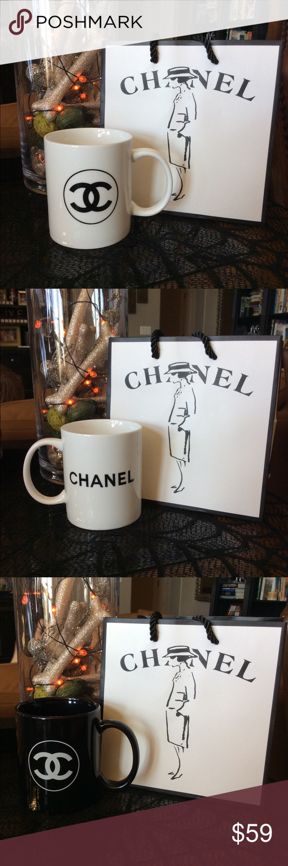 Chanel mug New with gift bag CHANEL Makeup Chanel makeup
