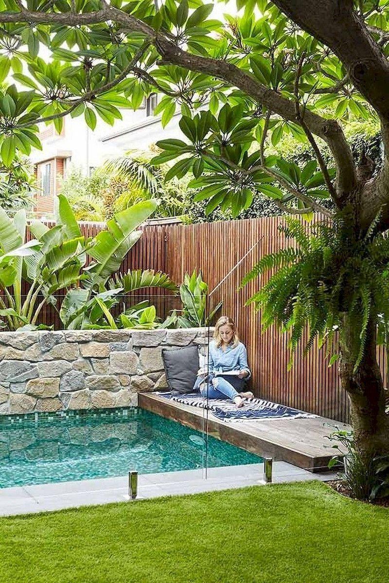 78 Cozy Swimming Pool Garden Design Ideas On A Budget Decorhit Com Backyard Design Small Pool Design Swimming Pools Backyard