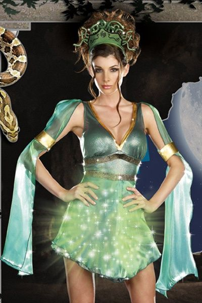 green mythical medusa light up halloween costume amiclubwear costume online storesexy costume - Mystical Halloween Costumes