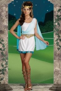 WHITE ITS CHIC TO BE GREEK (FEMALE) COSTUME