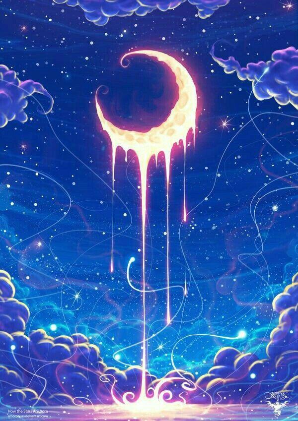 Pin By Anonim Anonimek On Sun Moon And Stars Moon Art Art Fantasy Art Fantasy anime moon wallpaper