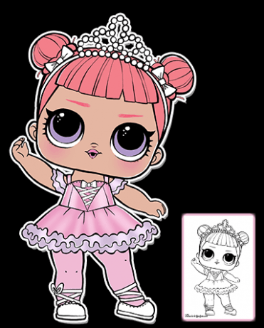 Center Stage Lol Doll Coloring Page Lol Surprise Doll Lol Dolls Baby Girl Art Coloring Pages