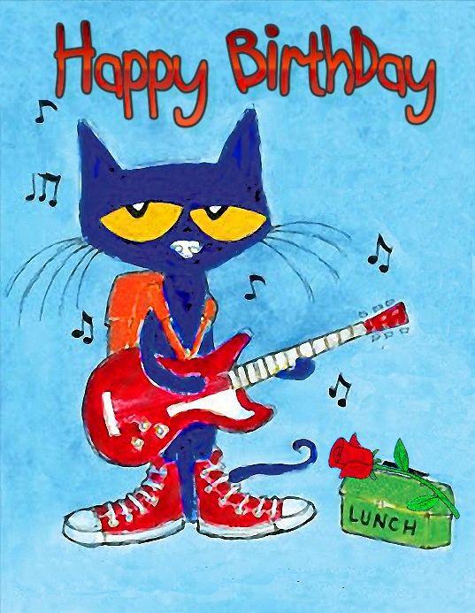 Happy birthday Pete the Cat   Happy Birthday in 2018   Pinterest