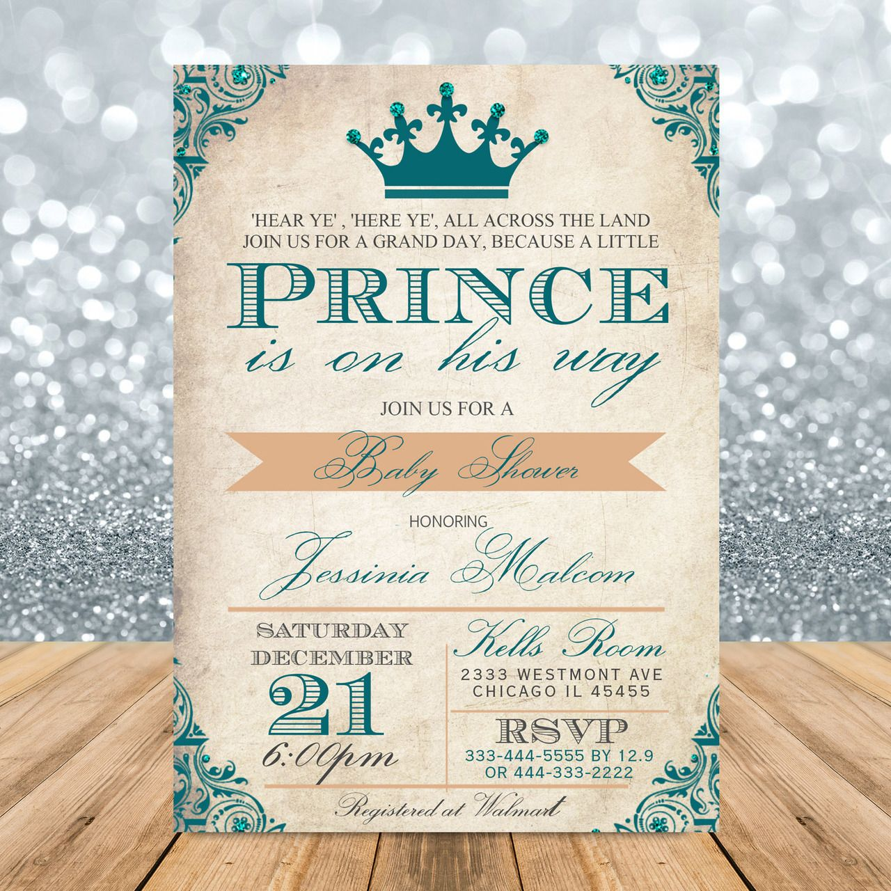 Vintage Royal prince baby shower invitation | Royal prince, Shower ...
