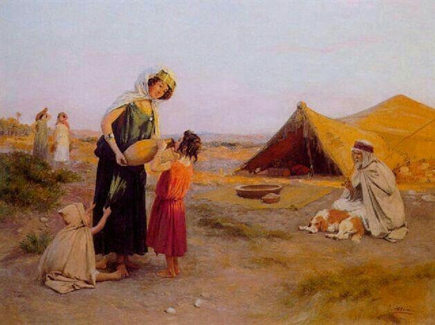 Peinture d 39 alg rie peintre espagnol jos alsina 1850 - Peinture satinee algerie ...