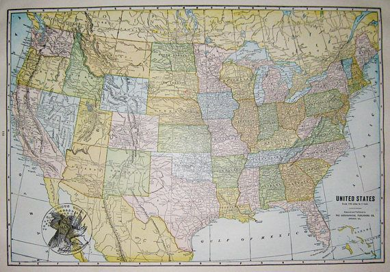 united states map vintage maps collage art anniversary gifts genealogy paper art coding coupon backgrounds