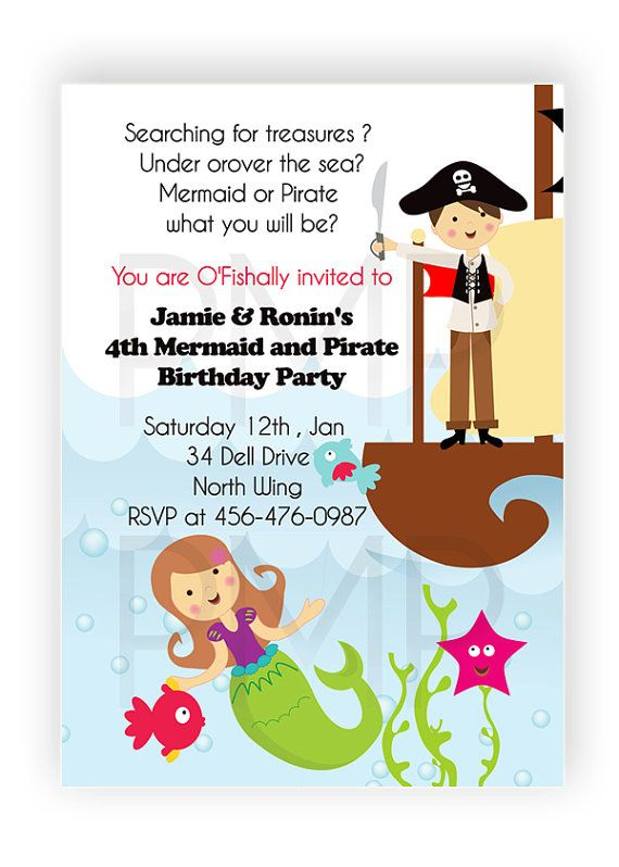 pirate birthday invitations pirate