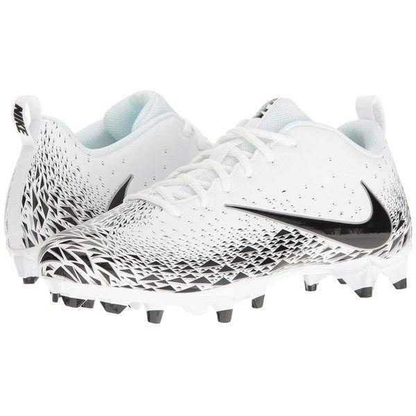 Nike Vapor Varsity Low TD (White/Black/Metallic Silver/Black) Men's...  ($53) ❤ liked on Polyvore featuring men's fashion, men's shoes, men's  sneakers, ...