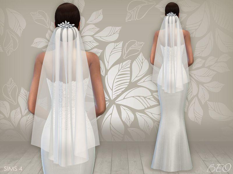 Sims 4 Wedding Veil.Lana Cc Finds Wedding Dress 02 Veil By Beo Sims 4 Cc Clothing